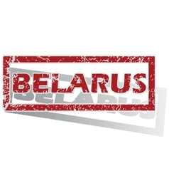 Belarus outlined stamp vector