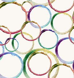 Watercolor circle stain pattern vector