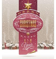 Christmas holidays greeting banner vector