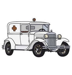 Old ambulance vector