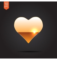 Game heart icon eps10 vector