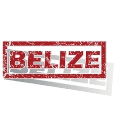 Belize outlined stamp vector