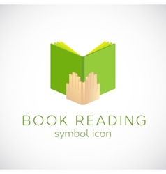 Book reading concept symbol icon or label vector