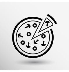Handmade pizza logo concept food vector