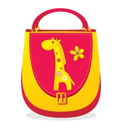 Needlework giraffe bag vector