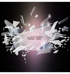 Broken glass design vector