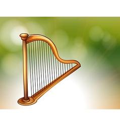 A golden harp vector