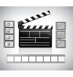 Movie clapper vector