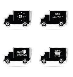 Delivery truck sticker vector