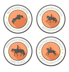 Horse label set vector