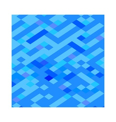 Blue maze abstract low polygon background vector