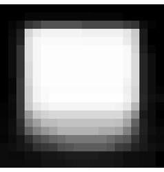 Vignette pixel grunge white stain on black vector