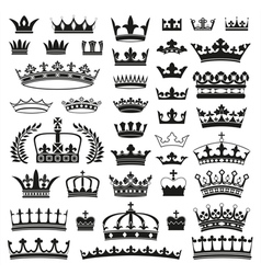Crowns collection vector