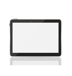 Black tablet pc vector