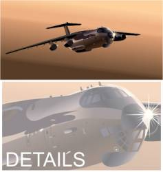 Cargo airplane vector