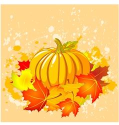 Autumn place card vector
