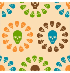 Seamless pattern of skulls vector