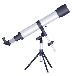 Telescope on a white background vector