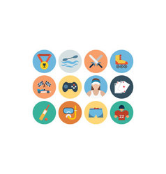 Sports flat icons - vol 5 vector