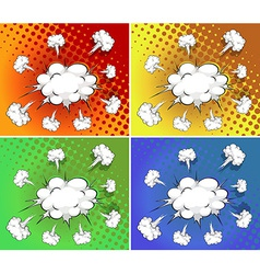 Clouds explosion vector