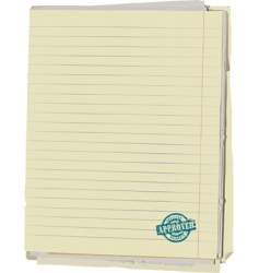 Old note book vector