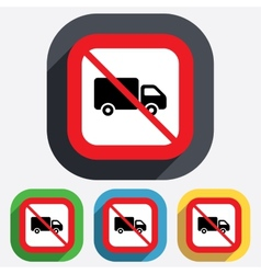 No delivery truck sign icon cargo van symbol vector