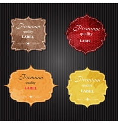 Aged paper labels vector