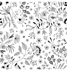 Flower seamless floral pattern or background thin vector