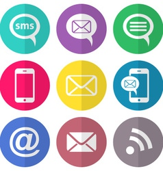 Communication flat icons vector