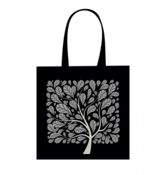 Shopping bag design art tree vector