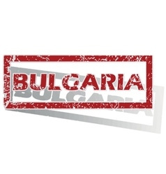 Bulgaria outlined stamp vector