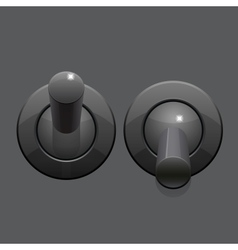 Cool realistic toggle switch grey color vector