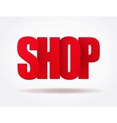 Typography internet red logo shop vector