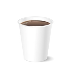 Opened take-out coffee isolated on a white vector