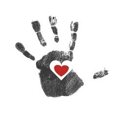 Heart in hand vector