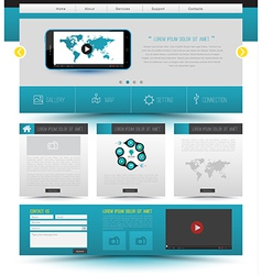 Website template design smartphone concept vector