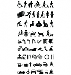 Signage people graphics collection vector