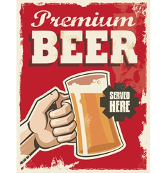 Vintage style beer sign - poster banner design vector