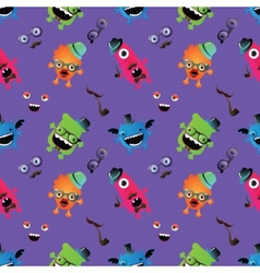Hipster monster seamless pattern vector