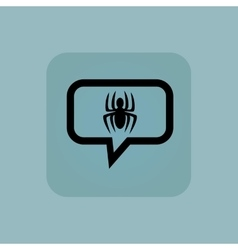 Pale blue spider message icon vector