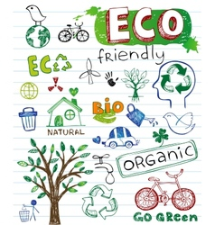 Eco friendly set vector