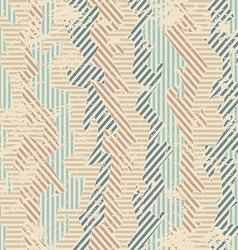 Vintage fabric seamless patten with grunge effect vector