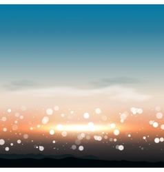 Natural background with sunset in vector
