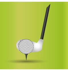 Golf club and ball sport commercial design banner vector