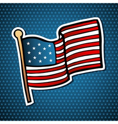 Usa cartoon flag vector