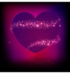 Sparkle bright pink heart vector