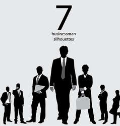 Businessman silhouettes vector