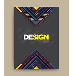 Brochure flyer magazine cover vector