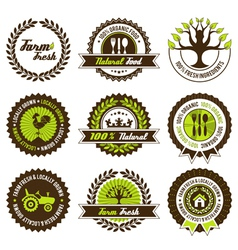 Farm fresh label set vector