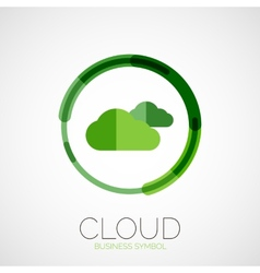 Cloud storage company logo minimal design vector